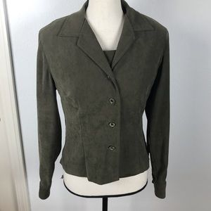 JESSICA HOWARD 2P SUEDE LIKE  TOP AND BLAZER